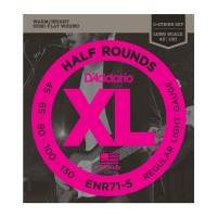 D`ADDARIO ENR71-5 XL NICKEL HALF ROUNDS BASS 5 45-130 Струны