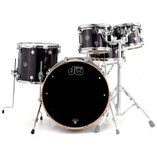DW PERFORMANCE SERIES 5-PIECE SHELL PACK MAPLE SNARE (EBONY STAIN) Ударная установка