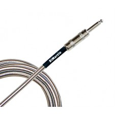 DIMARZIO EP1710SSSM METALLIC INSTRUMENT CABLE 10ft (CHROME) Кабель гитарный