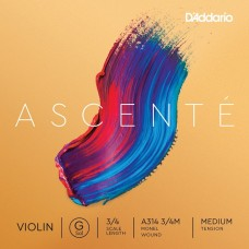 D'ADDARIO ASCENTÉ VIOLIN SINGLE G STRING 3/4 Scale Medium Tension Струна Соль для скрипки (A314 3/4M)