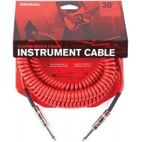 D`ADDARIO PW-CDG-30RD Coiled Instrument Cable - Red Кабель